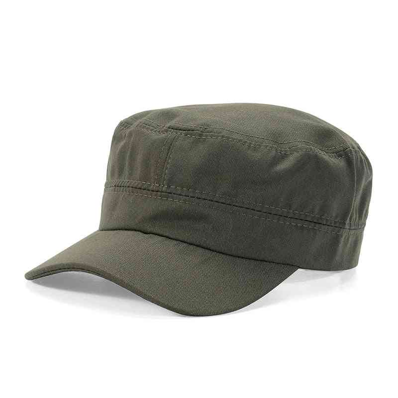 Hat Flat Top Breathable Sun Protective Casual Cap