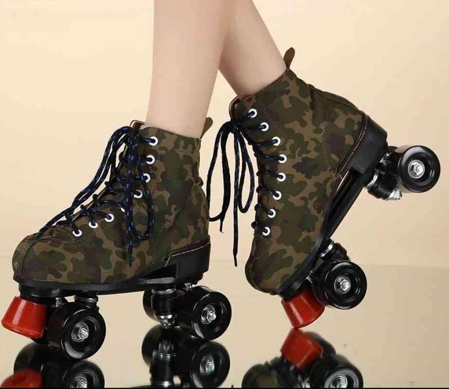 Leather Roller Blades Skates Shoes