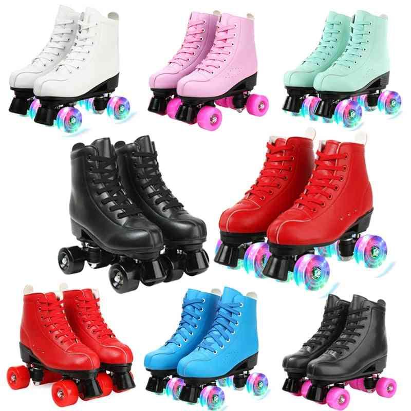 Women 4 Choice Pu Microfiber Roller Skates, Skating Shoes