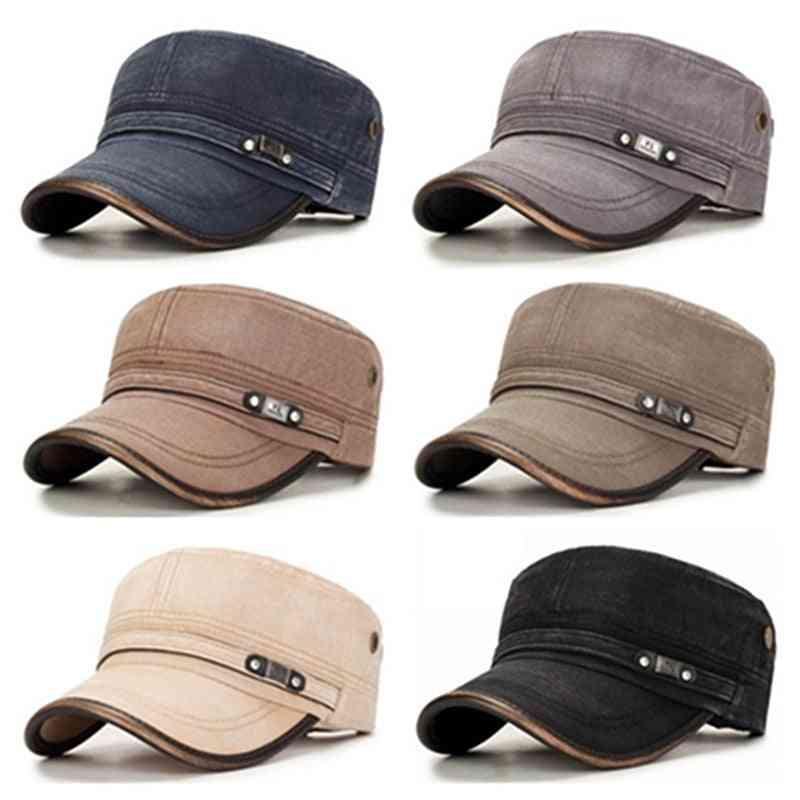 Hat Fashion Flat Caps Washed Cotton