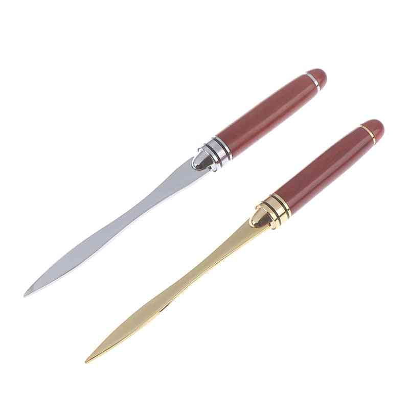 Stainless Steel- Wood Handle, Letter Opening, Cut Paper Knife