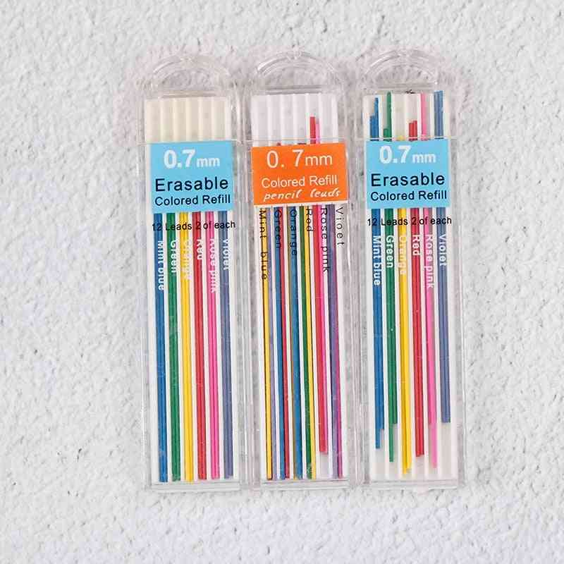 Colored Mechanical Pencil, Refill, Lead Erasable Student Stationary