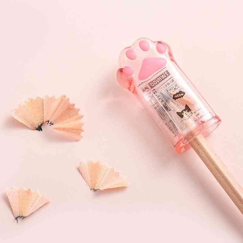 Cute Cat Paw Pencil Sharpener Kawaii School Supplies Stationery Items T