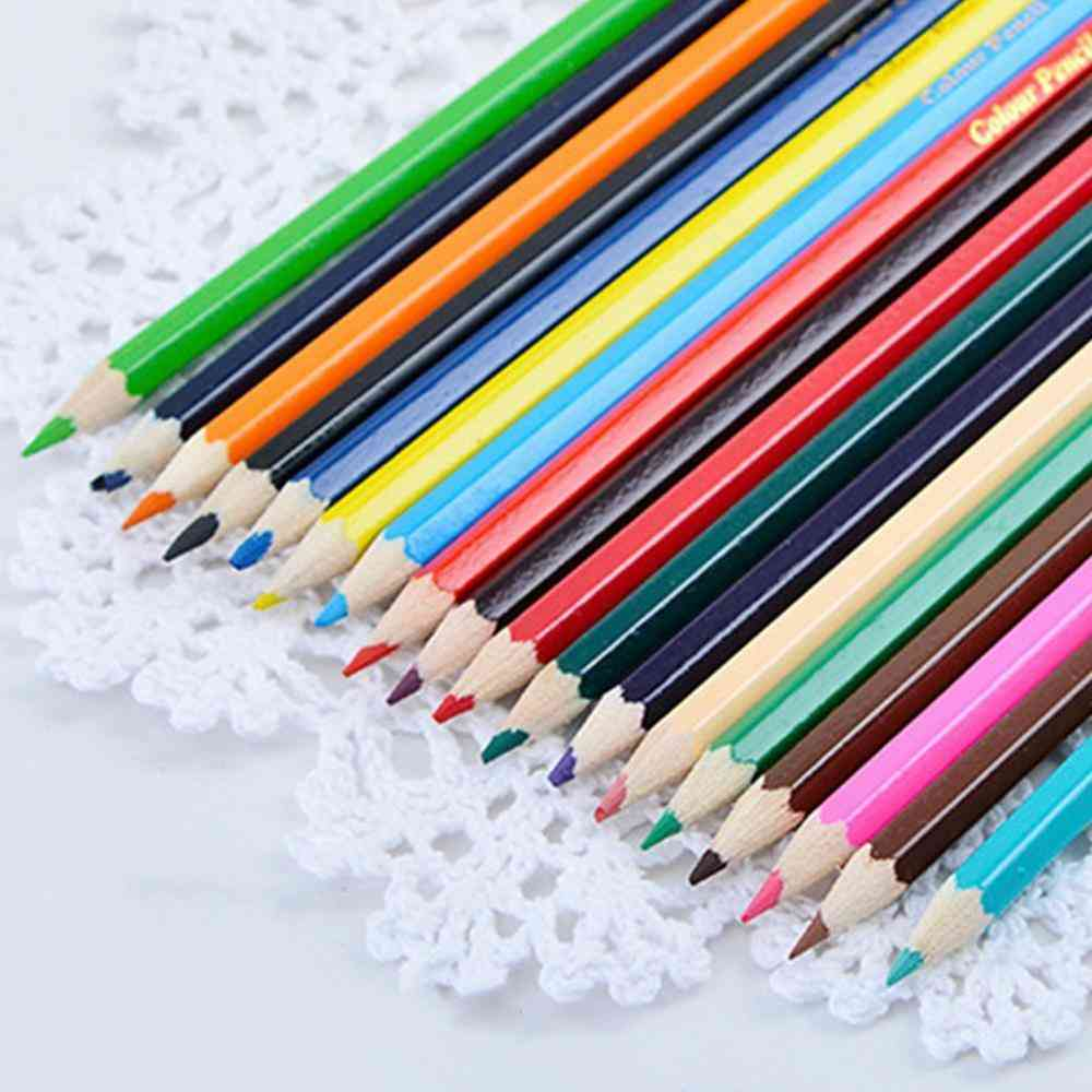 Colors Natural Wood Colorful Pencils For Drawing Coloring Pen Art Tool Painting Stationery