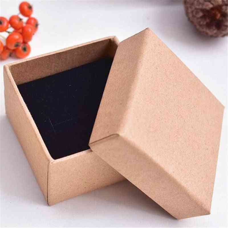 Kraft Paper Jewelry Boxes, Box, Ring Necklace, Multicolor Simple Style