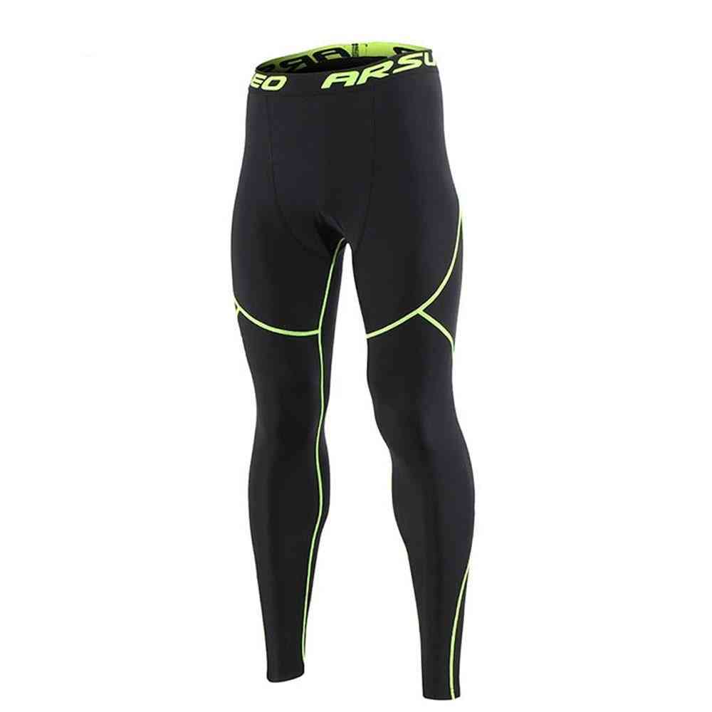 Men's Winter Sports Running Tights, Gym Fitness Compression Pants