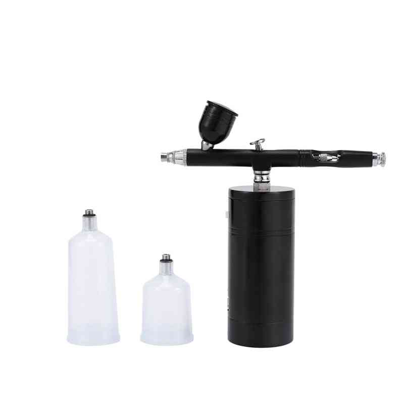 Wireless Airbrush Kit, Airbrush Compressor, High Capacity Ink Cup Airbrush For Nail Paint Cake Coloring