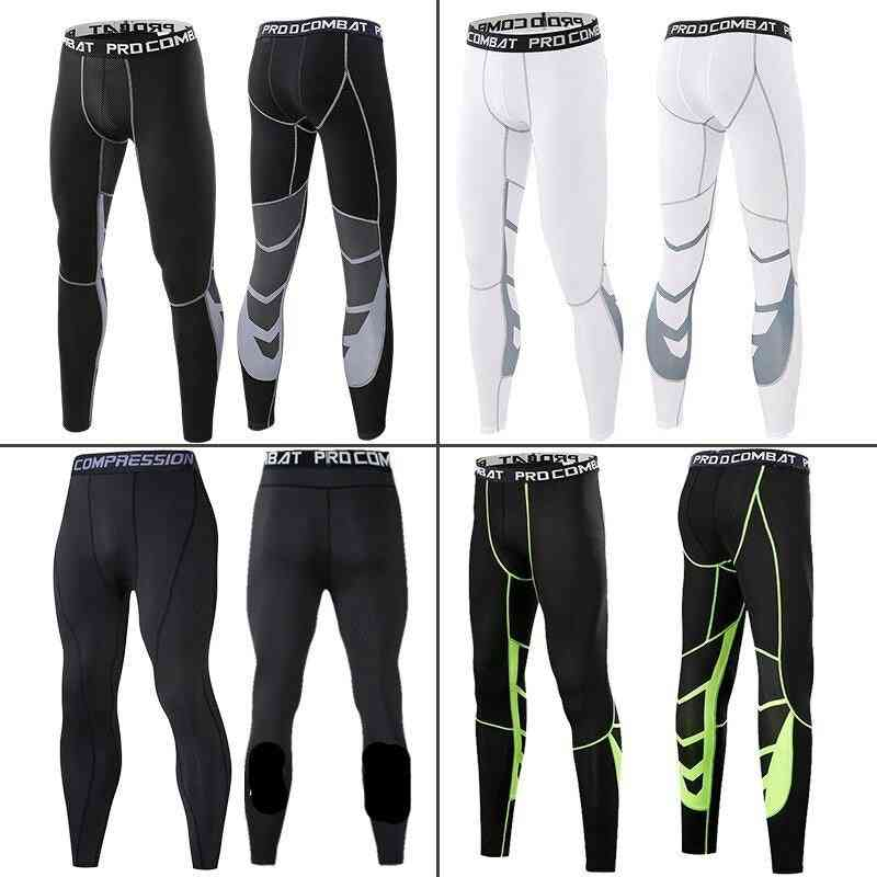 Men's Tight Running Gym Pants, Quick Dry Trousers