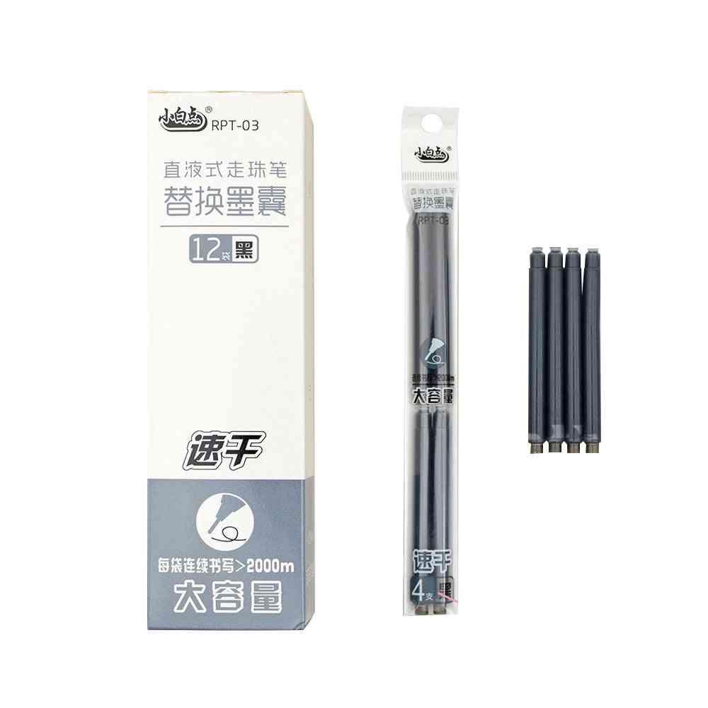 Little White Dot Rpt03 Quick Dry Black Gel Pen Refills