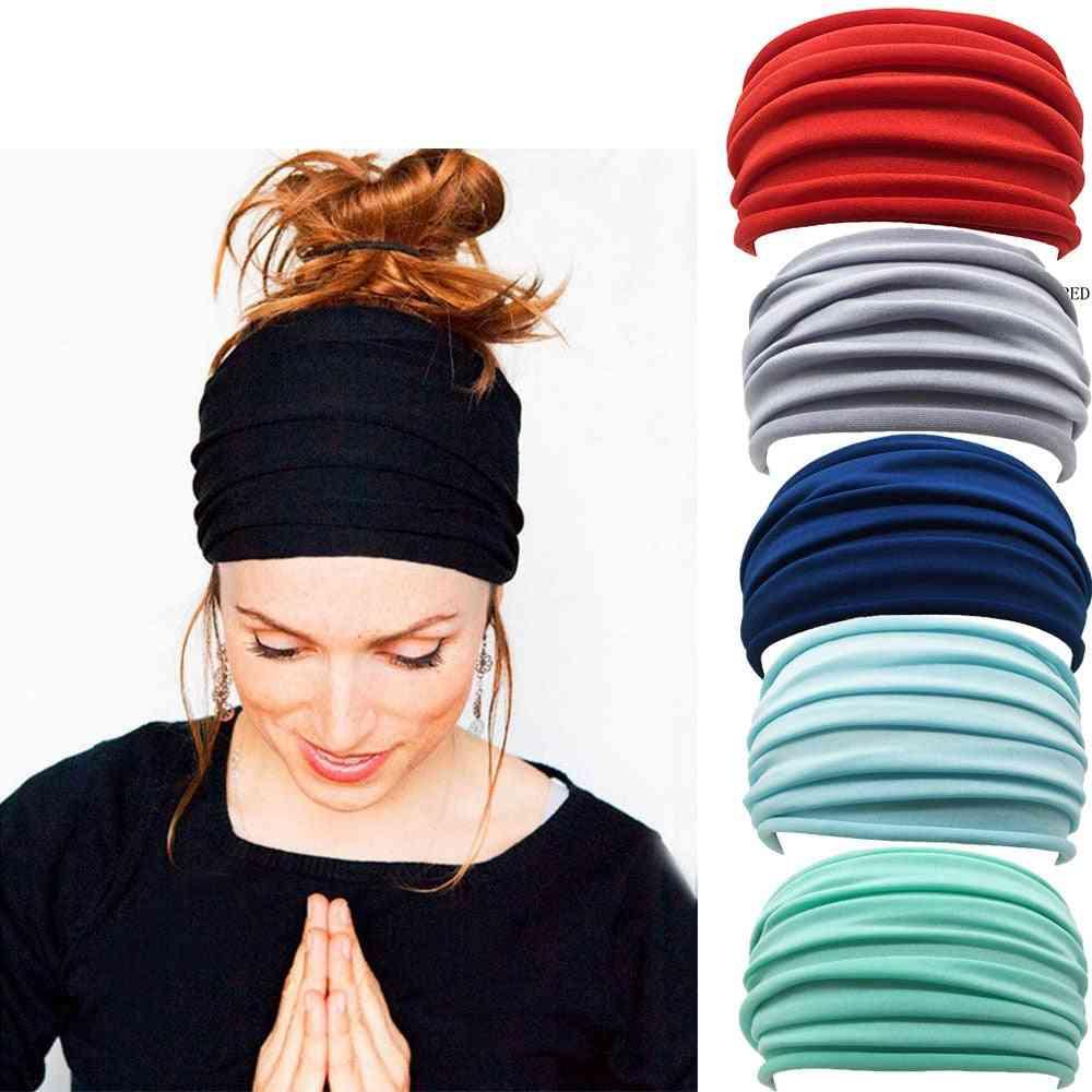Elastic Folds Yoga Hairband, Headband Running Accessories