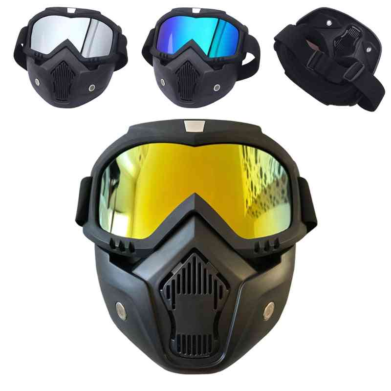 Windproof Motocross Protective Glasses Safety Goggles With Mouth Filter