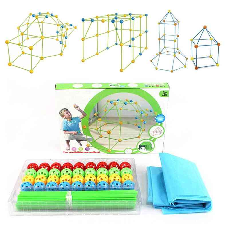Kids Construction Fort Building Castles Tunnels Tents Kit