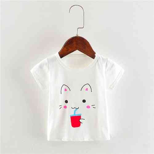 Baby Girl Summer T-shirts, Cotton Tops
