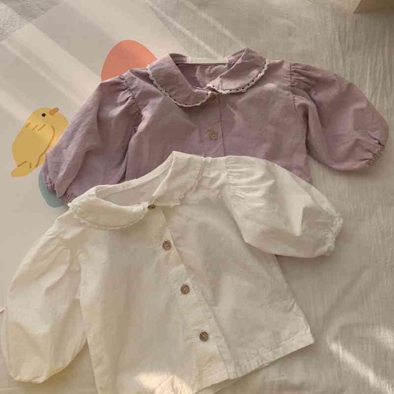 Spring Korean Style Baby Shirt, Autumn Tops