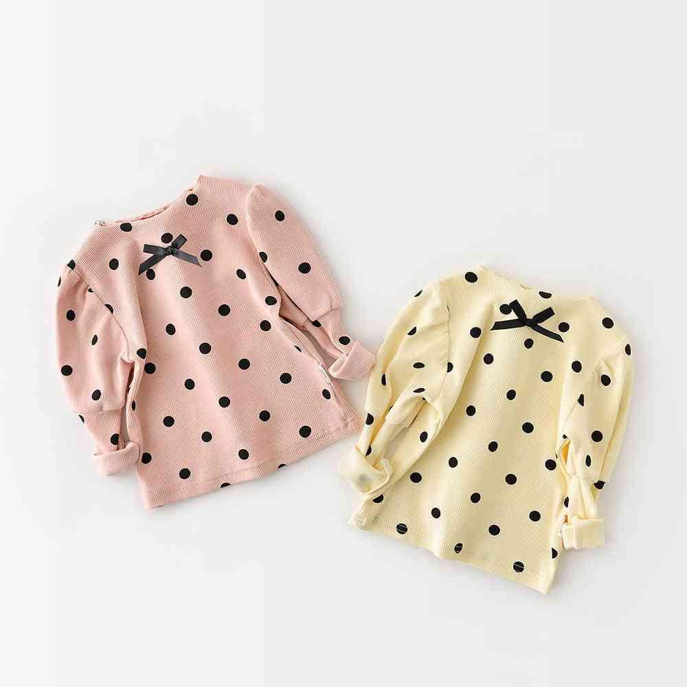 Baby Clothing Polka Dot Shirts, Puff Sleeve Tops
