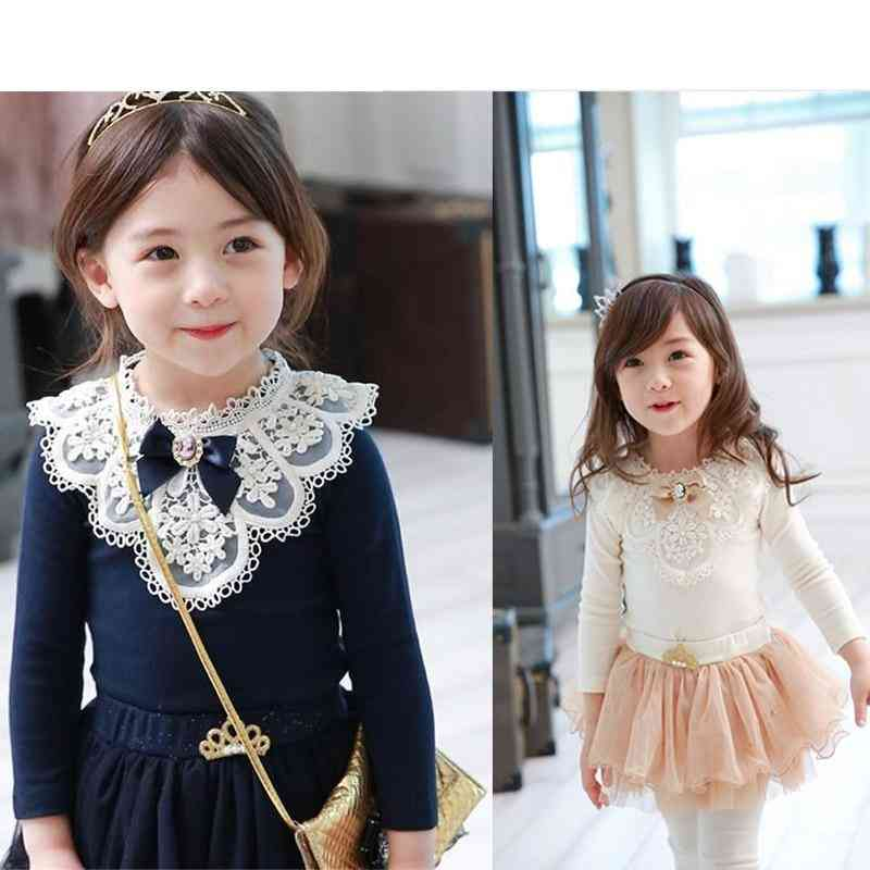 Children T-shirt, Lace Flower Tops For