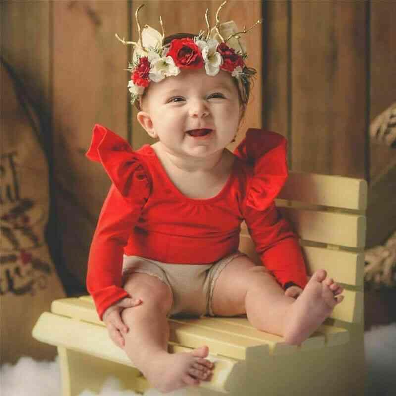 Long Sleeve Romper Cute Toddler Kids Baby T-shirt