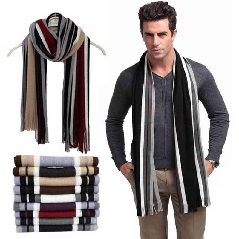 New Fashion Designer Men Classic Cashmere Scarf Winter Warm