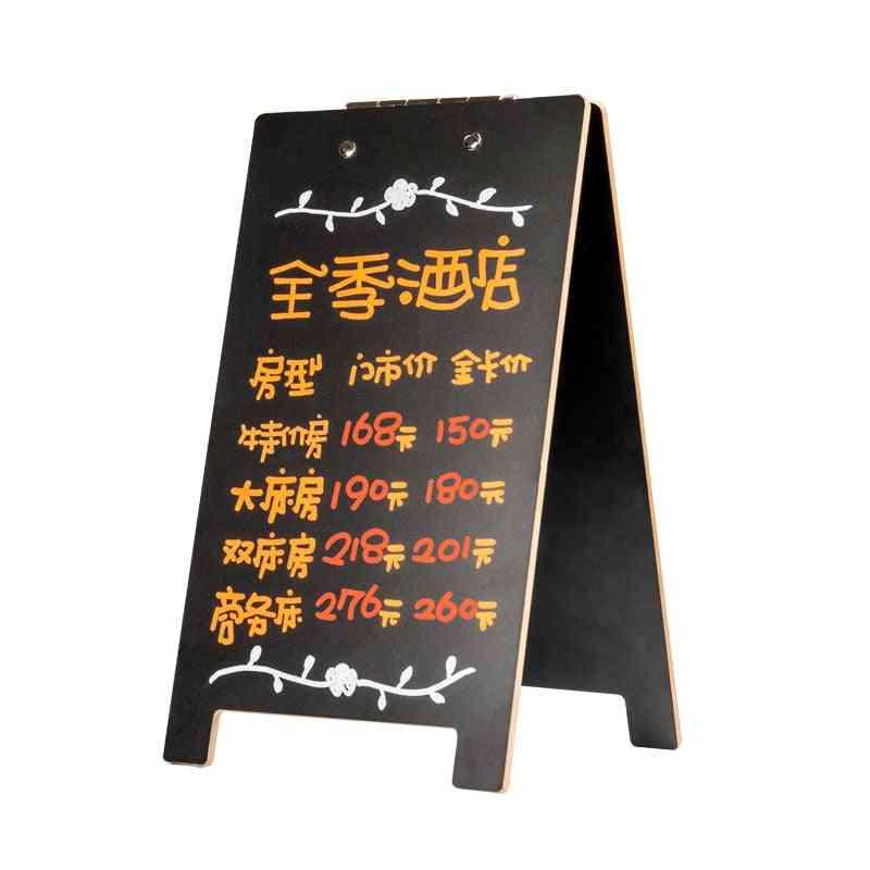 Message Board Memo Blackboard Creative Decor Desktop Home Multifunctional Cafe Menu Card Sign Holder