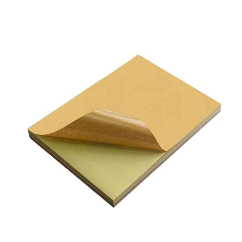 A4 Brown Kraft Paper Stickers For Inkjet Laser Printing Labels