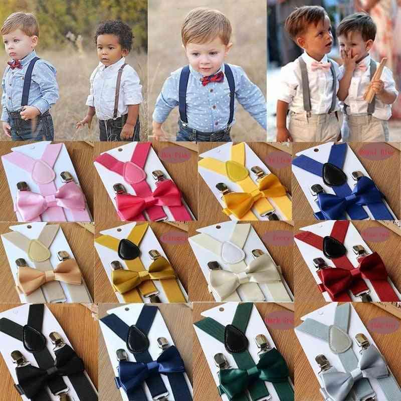 Soild Color Belt Bowtie Set Baby
