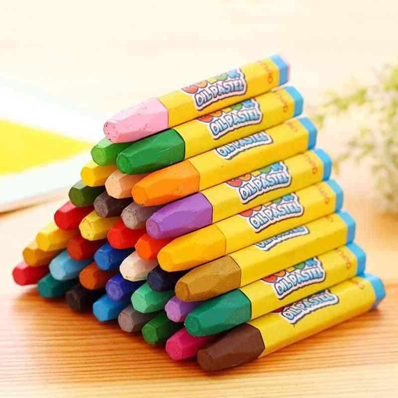 Colors Pencils Wax Caryon Set, Decor Artist Painting Oil Pastel,  School, Drawing Sketch Art Supplies