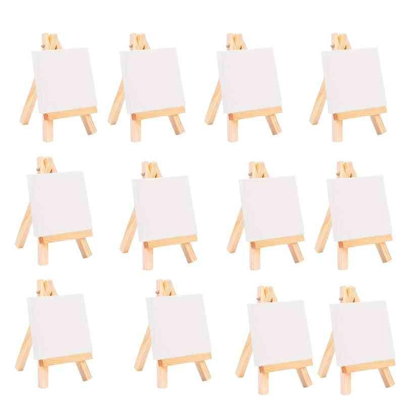 Artists Mini Easel Canvas Set, Painting Craft, Diy Drawing Small Table