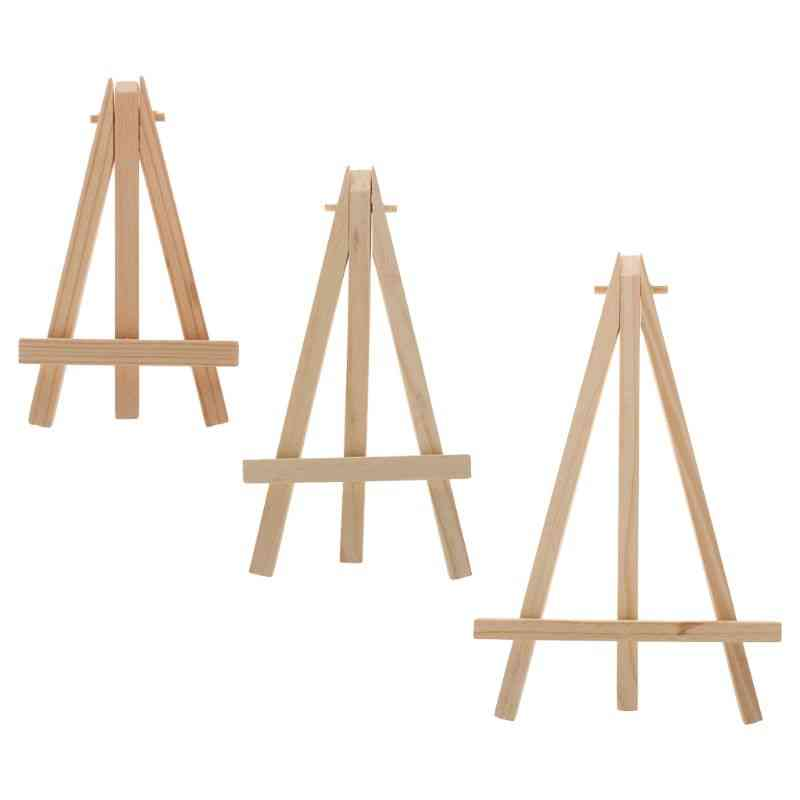 Natural Wood Mini Easel Frame, Tripod Display, Meeting Wedding Table Number, Name, Card Stand Holder, Painting Craft