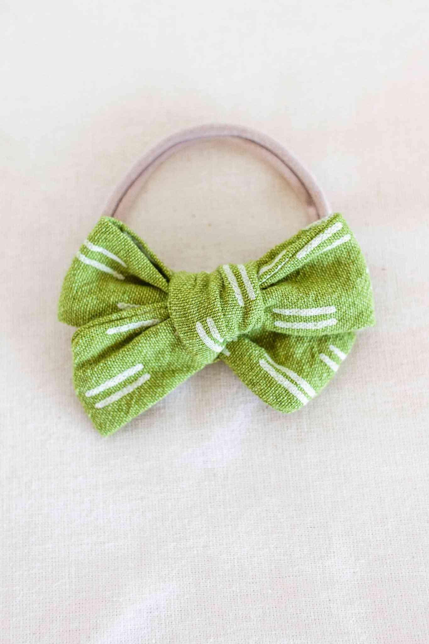 Pickle Matching Headband Bow