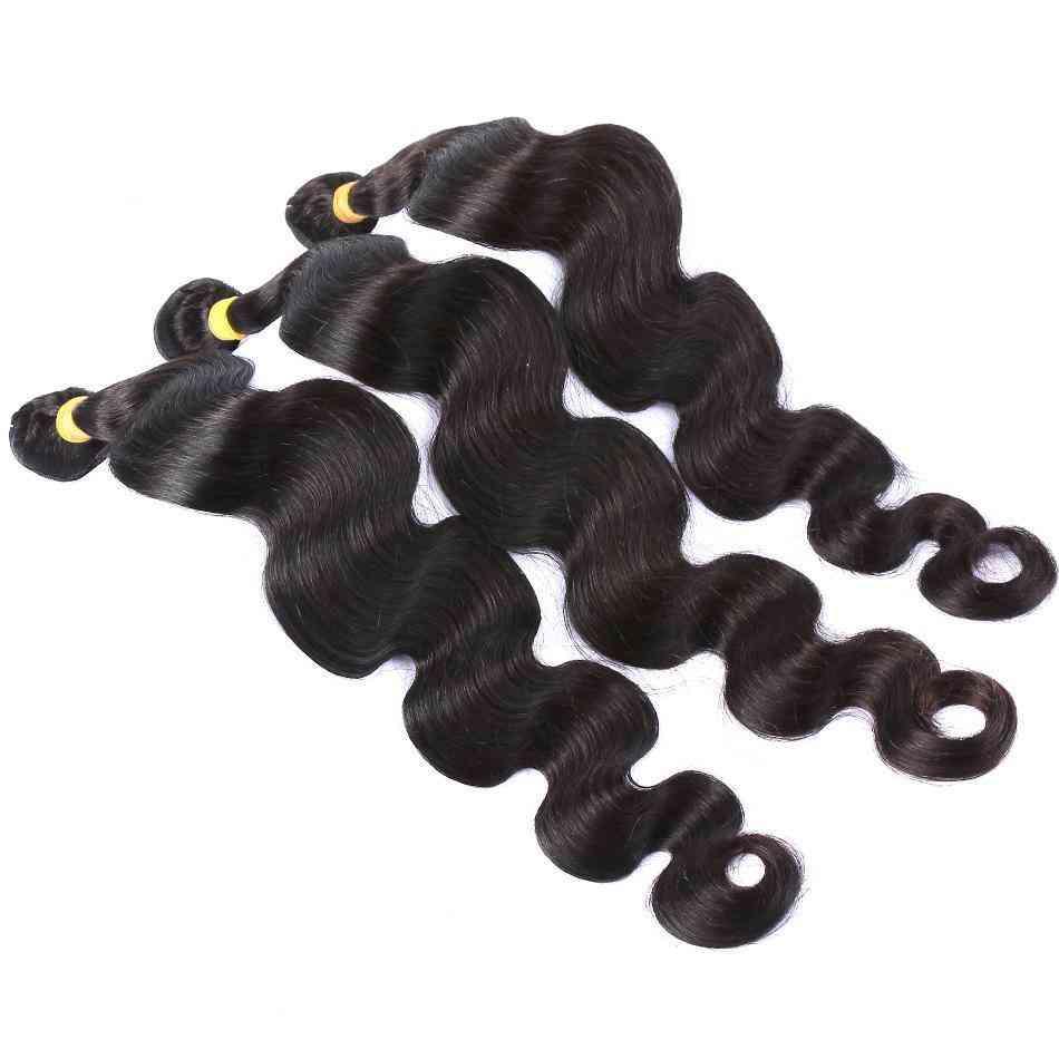 9a Grade Brazilian Human Hair Extensions Body Wave 1/3 Bundles With