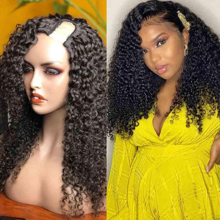 Deep Wave U Part Human Hair Wigs