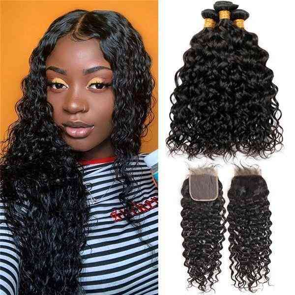 9a Grade Brazilian Human Hair Extension 1/3/4 Water Wave Bundles With