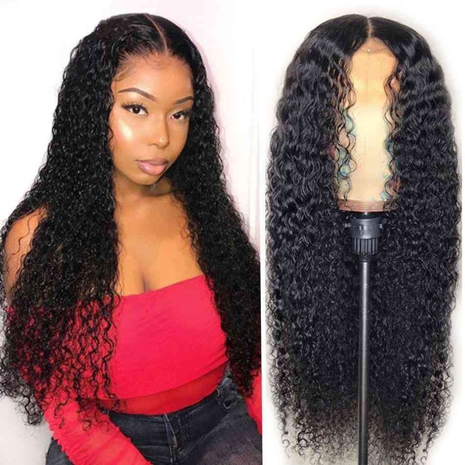 Beumax Water Curl 4x4 Lace Closure Human Hair Wigs For Us
