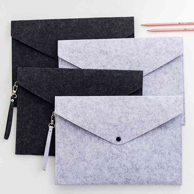 Simple One-color Bag Documents Large Capacity
