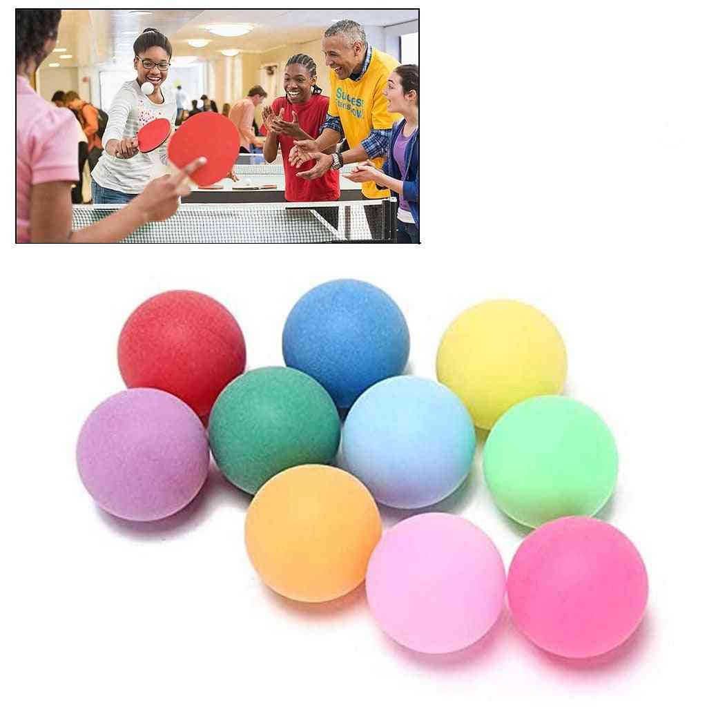 40mm Entertainment Table Tennis Sports Colorful Ping Pong Balls