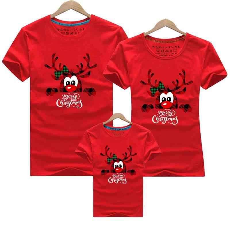 Family New Christmas Dad Mom Kids T-shirts