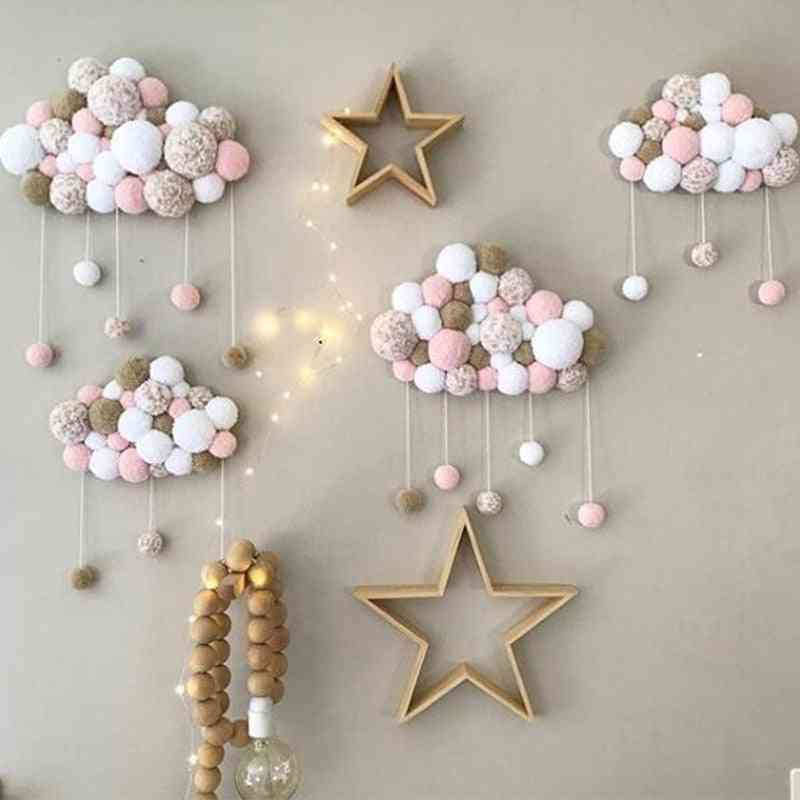Baby Room Decoration, Short Coral Velvet Hairball In The Crib, Infant Photography Props, Hanging Wall