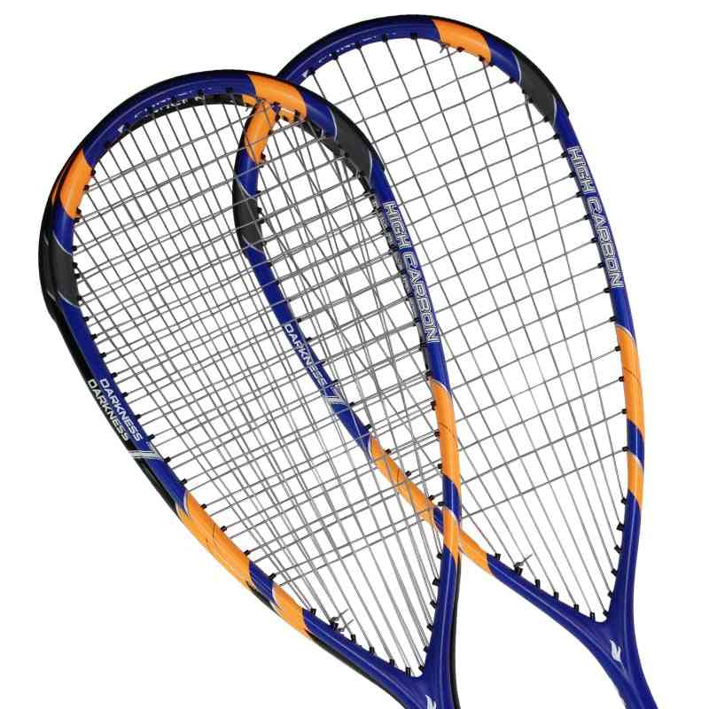 2pc/lot Fangcan Professional Squash Racket With Case And Squash Ball 100% Carbon Fiber Squash Racquet Blue And Black