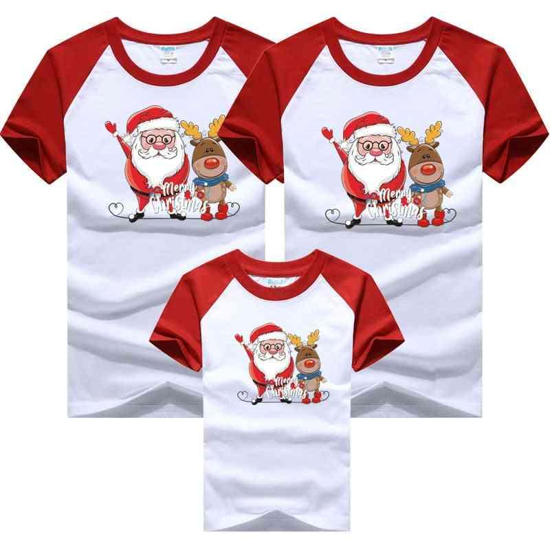 Christmas Family Dad Mom Baby T-shirts