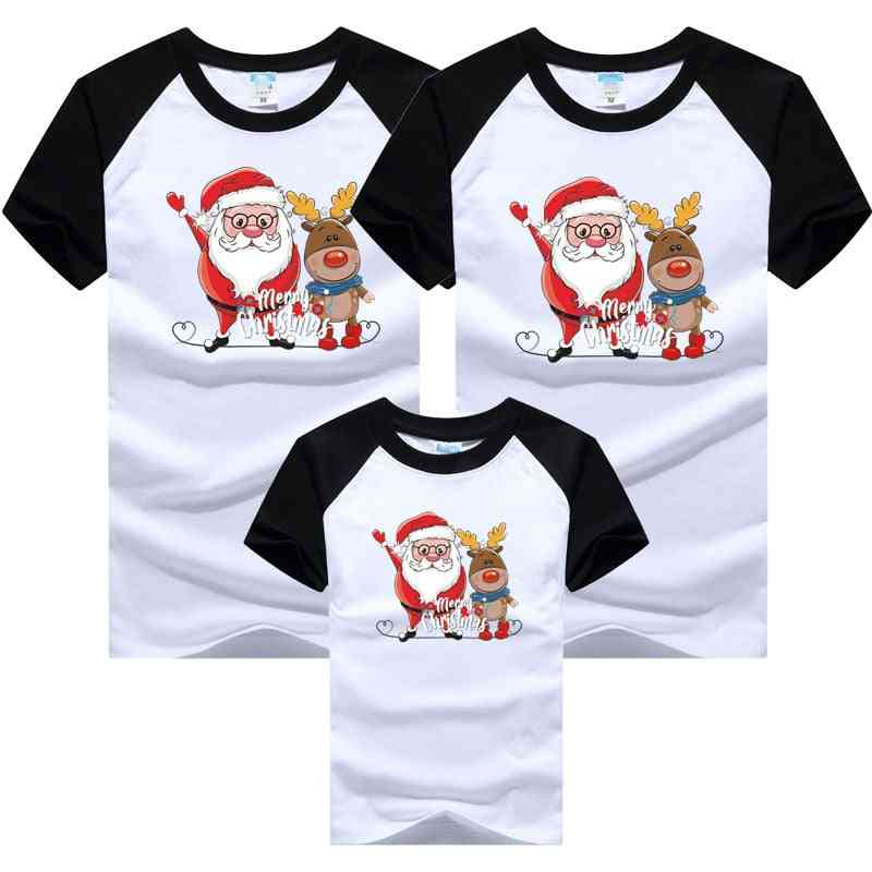 Christmas Family Outfits Dad Mom Baby T-shirts