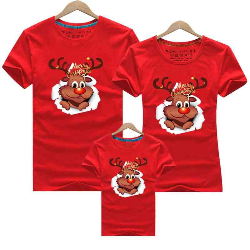 Merry Christmas Family Matching Mom Baby T-shirt