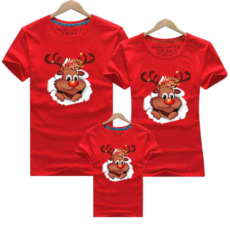 Merry Christmas Family Matching Clothes, Mom Baby T-shirt
