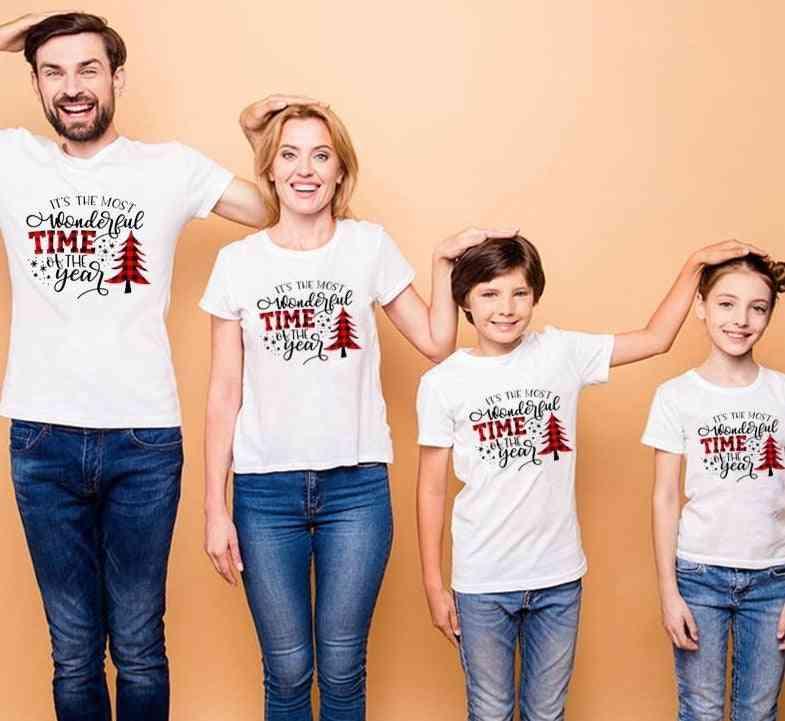 Christmas Matching Clothes, Punk Dance Short Sleeve T-shirt