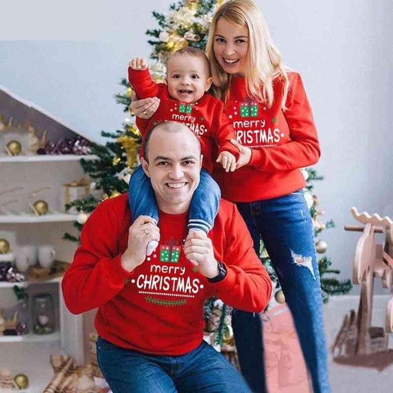 Tops Family Matching Christmas Sweaters, Kid Hoodies Sets