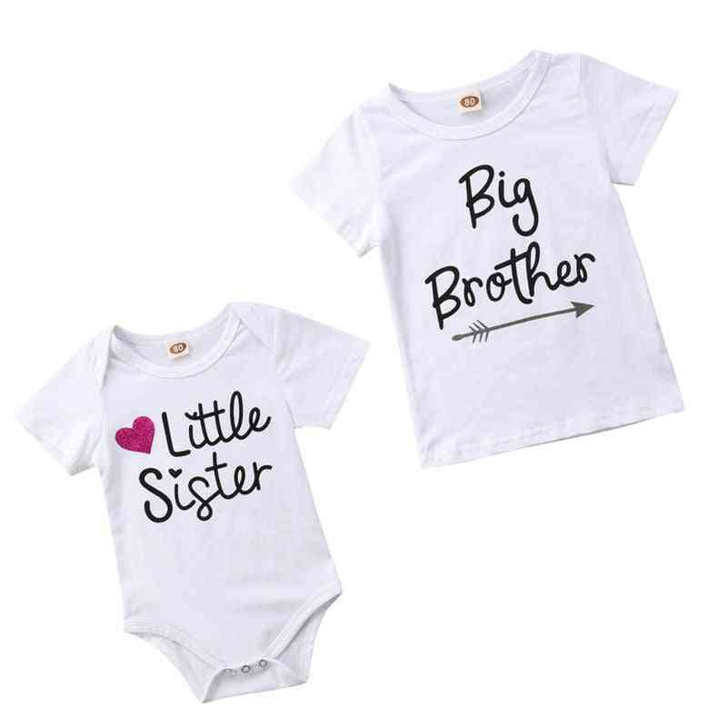 Family Matching Baby Short Sleeve Rompers Bodysuit T-shirt