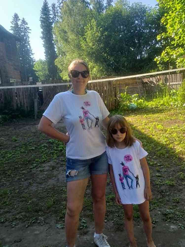Family Look Mother And Daughter Clothes, Baby T-shirt