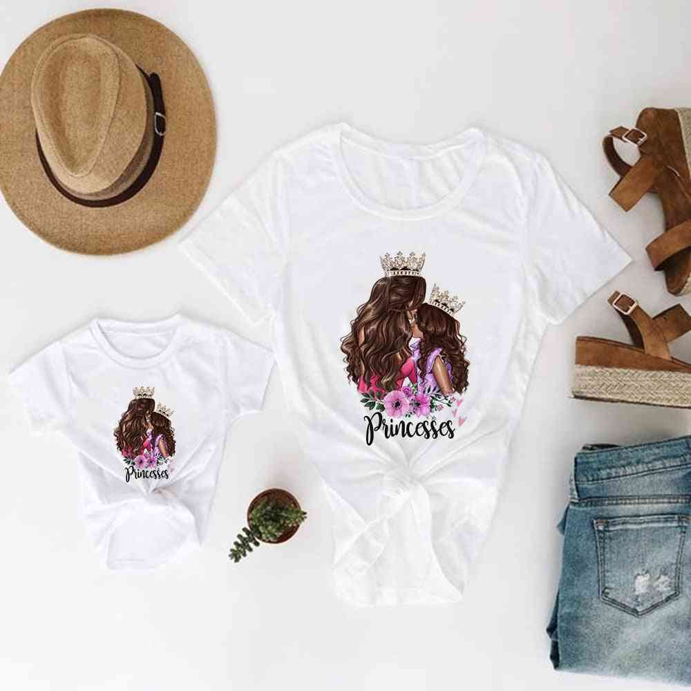 Family Look Mother And Daughter Clothes, Super Baby T-shirt