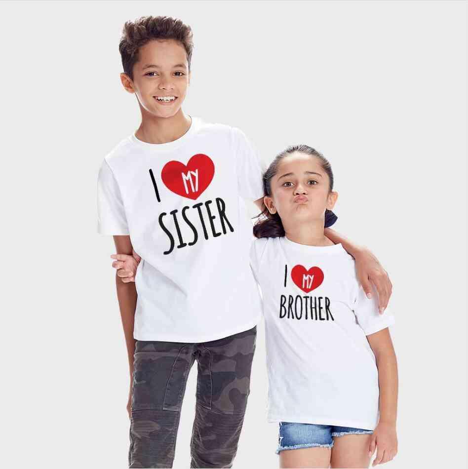 Kids Matching T-shirt, Tops, Short Sleeve Shirt