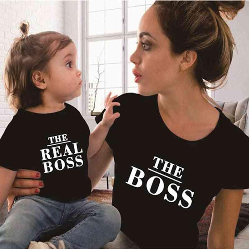 Family T-shirt Matching Clothes, Fashion Girls Mom T-shirt