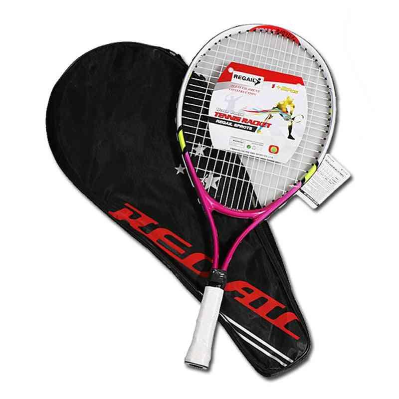 Newly Kids Junior Sports Tennis Racket Aluminum Alloy Pu Handle Nylon Wire Tennis Racket Outdoor Youth Tennis Rackets
